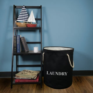 3pc Laundry Hamper with Rope Handles and Laundry Stamp