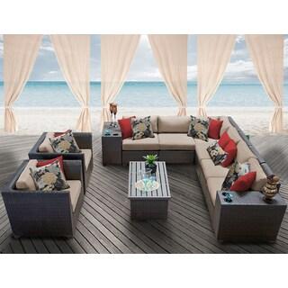 Barbados 11 Piece Outdoor Wicker Patio Furniture Set 11d
