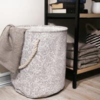3pc Laundry Hamper with Rope Handles in Vine Pattern