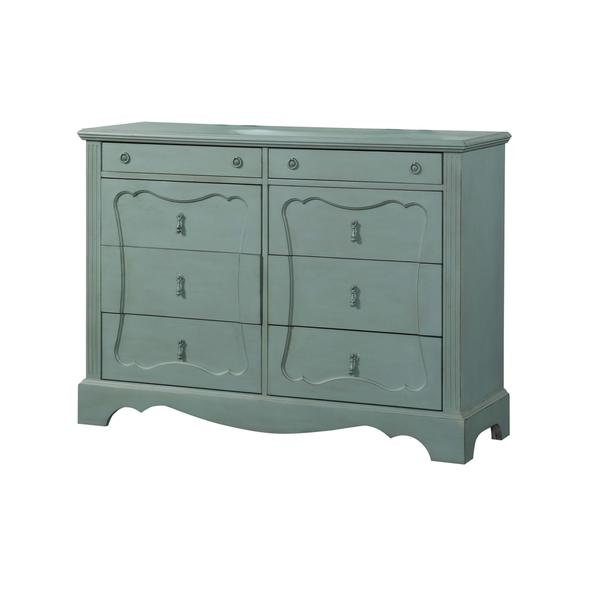 Acme Furniture Morre Antique Teal Wood Dresser - Acme Furniture Morre Antique Teal Wood Dresser - Free Shipping Today
