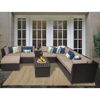 Barbados 10 Piece Outdoor Wicker Patio Furniture Set 10b