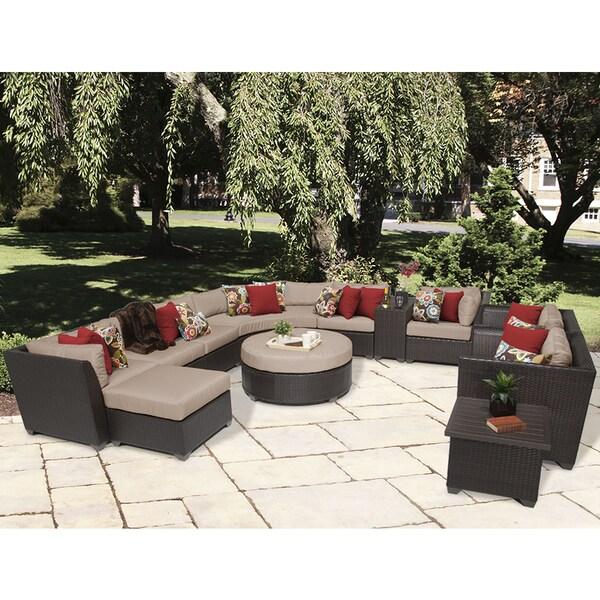 Beau Barbados 12 Piece Outdoor Wicker Patio Furniture Set 12a