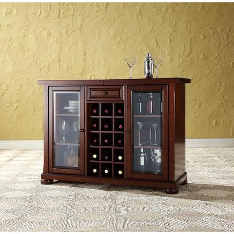 Alexandria Sliding Top Bar Cabinet- Vintage Mahogany