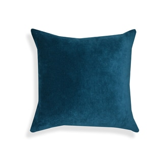 Genevieve Blue Velvet 20-inch Throw Pillow