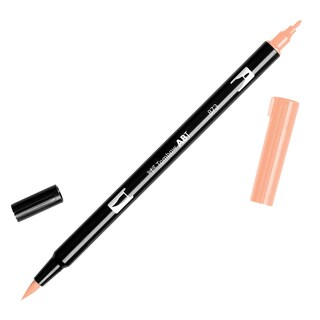 Tombow Dual Brush Marker Open Stock-873 Coral