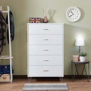 Acme Furniture Deoss White MDF and Metal Chest