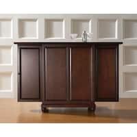 Cambridge Brown Wood Expandable Bar Cabinet