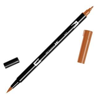 Tombow Dual Brush Marker Open Stock-947 Burnt Sienna
