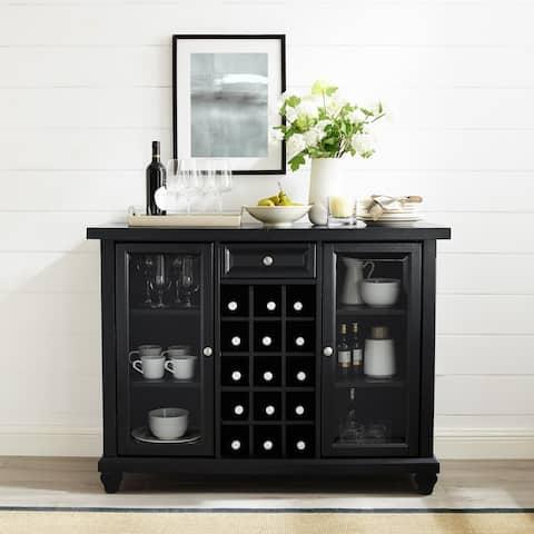Cambridge Sliding Top Bar Cabinet in Black Finish - N/A