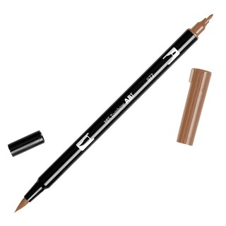 Tombow Dual Brush Marker Open Stock-977 Saddle Brown