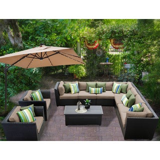 Barbados 10 Piece Outdoor Wicker Patio Furniture Set 10a