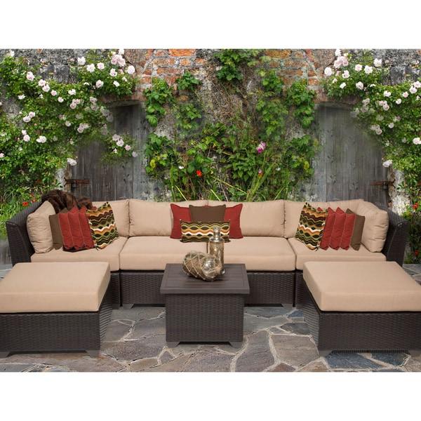 Shop Barbados 7 Piece Outdoor Wicker Patio Furniture Set 07a Free