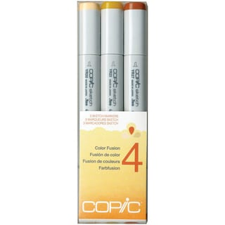 Copic Sketch Color Fusion Markers 3/Pkg-Set 4