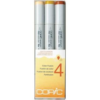 Copic Sketch Color Fusion Markers 3/Pkg-Set 4