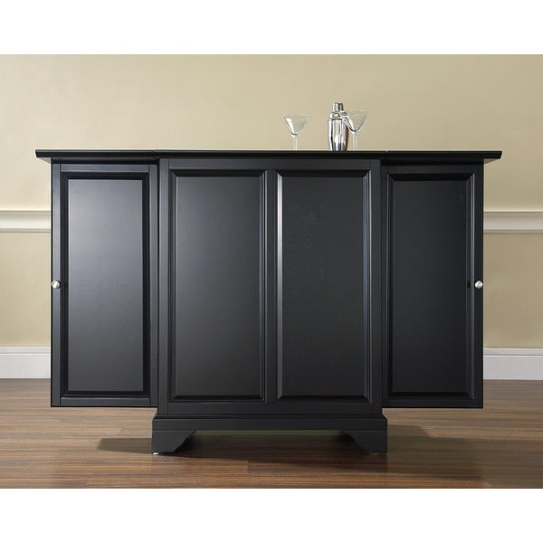 Black Home Bar Furniture: Shop Crosley Furniture LaFayette Black Finish Expandable