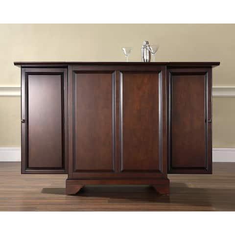 LaFayette Vintage Mahogany Wood Expandable Bar Cabinet
