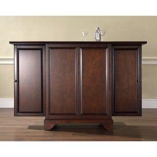 Crosley Furniture LaFayette Vintage Mahogany Wood Expandable Bar Cabinet