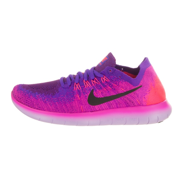 Shop Nike Women's Free Run Flyknit 2017 Pink and Purple