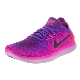 Nike Women's Free Run Flyknit 2017 Pink and Purple Running Shoes