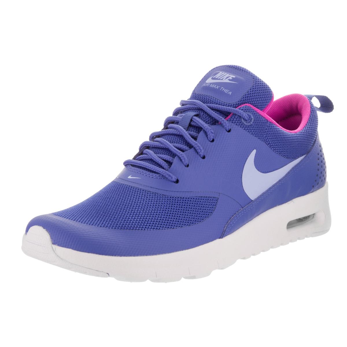 Nike Kids Air Max Thea (GS) Running Shoe (5), Boy's, Blue...