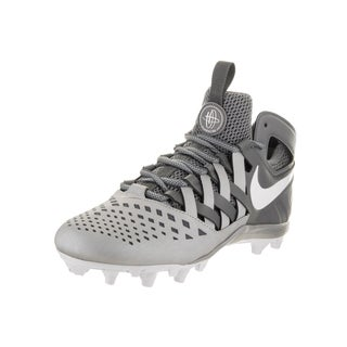 Nike Men's Huarache V Lax Grey Faux Leather Cleated Shoe
