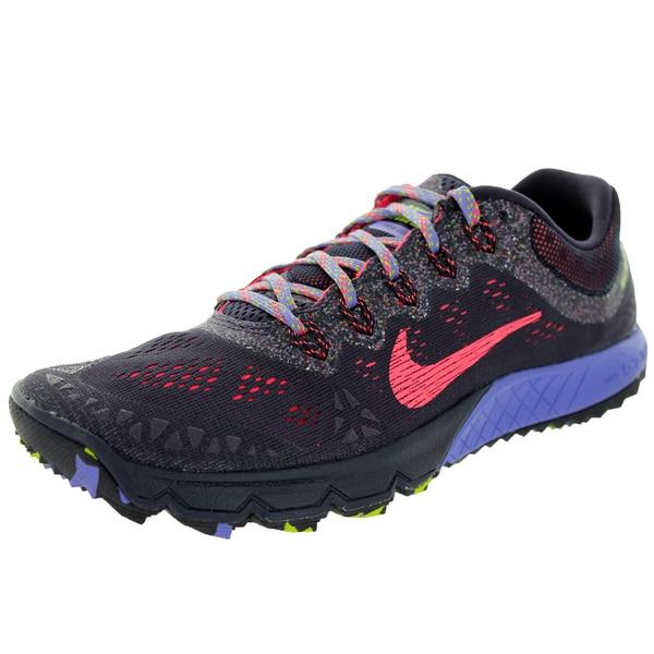 1ca8cdeea0325 Nike Women  x27 s Air Zoom Terra Kiger 2 Grey and Purple Running Shoes