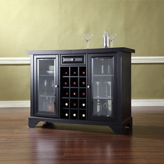 LaFayette Sliding Top Bar Cabinet in Black Finish