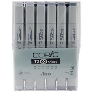 Copic Original Markers 12pc Set-Cool Gray
