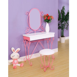Jane Metal Vanity Set with Mirror