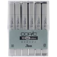 Copic Original Markers 12pc Set-Neutral Gray