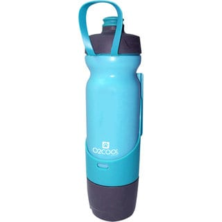 O2COOL Sip N Share 17 oz Bottle, Blue