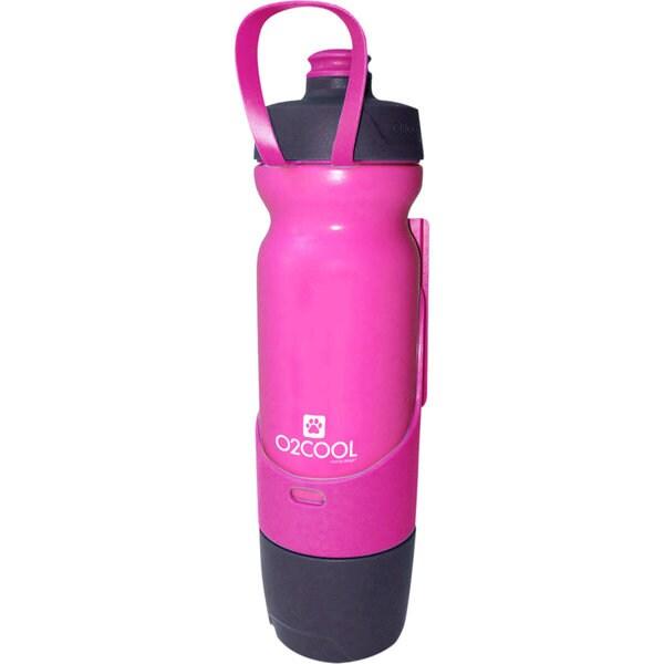 O2COOL Sip N Share 17 oz Bottle, Pink