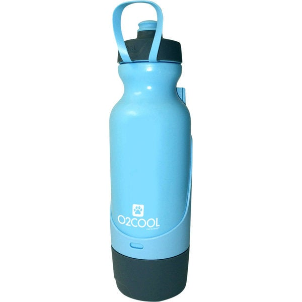 O2COOL Sip N Share 32 oz Bottle, Blue