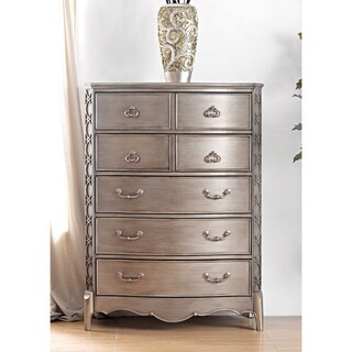 Furniture of America Kerasaw Contemporary Brushed Gold 5-Drawer Chest