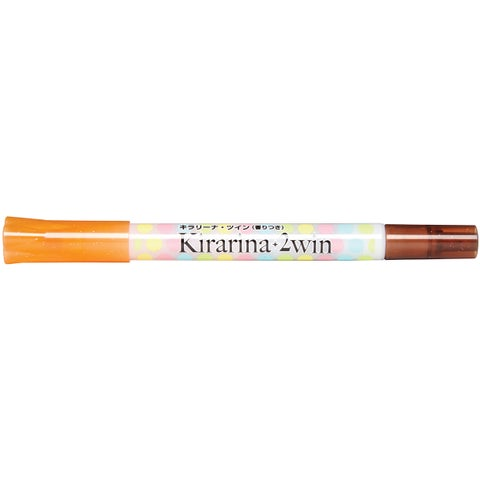 Kirarina 2win Water-Based Marker-Persimmon