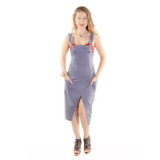 Xehar Women's Casual Overall Stripe Dress