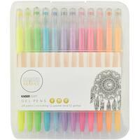 KaiserColour Gel Pens 24/Pkg-Pastel & Glitter; 12ea