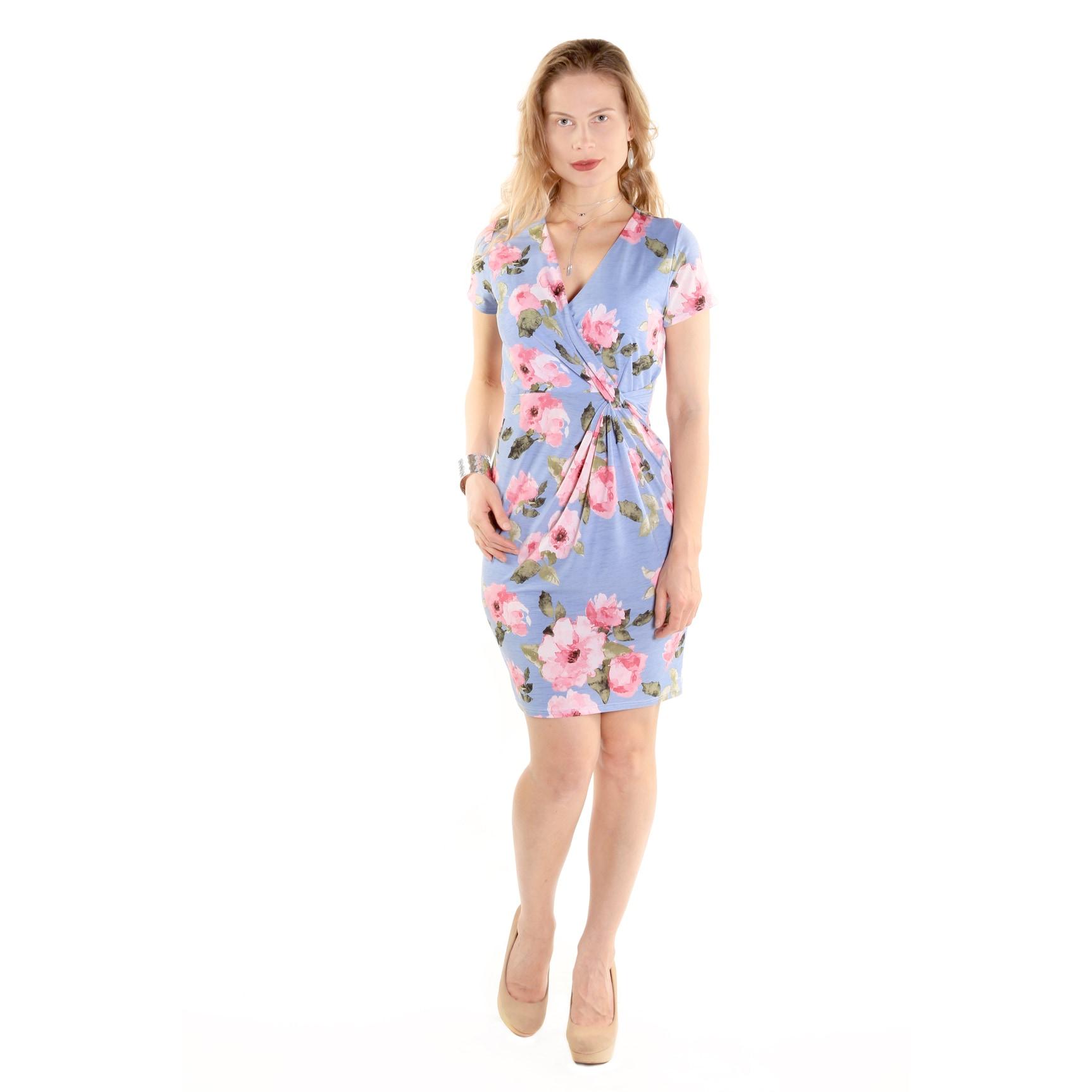 Hadari Xehar Women's Casual Sexy Mini Dress (L), Blue (po...