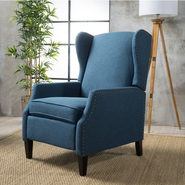 Wescott Wingback Fabric Recliner Club Chair By Christopher
