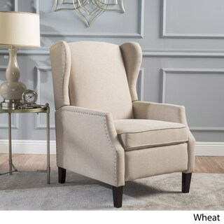 Copper Grove Muir Wingback Fabric Recliner Club Chair (4 options available)