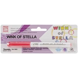 Zig Memory System Wink Of Stella Glitter Marker (Packaged)-Glitter Red
