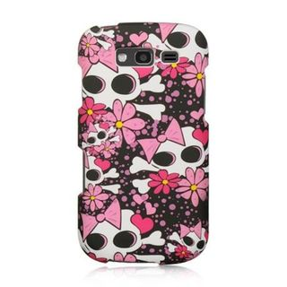 Insten Pink/ White Skull Hard Snap-on Rubberized Matte Case Cover For Samsung Galaxy S Blaze 4G SGH-T769 (T-Mobile)