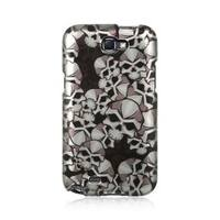 Insten Black Skull Hard Snap-on Rubberized Matte Case Cover For Samsung Galaxy Note II
