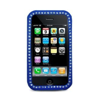 Insten Silicone Skin Gel Rubber Case Cover with Diamond For Apple iPhone 3G