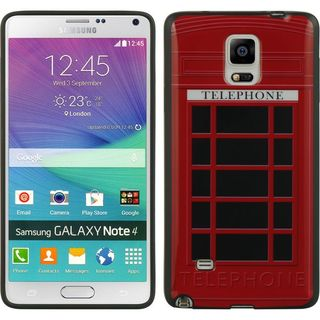 Insten Red/ Black TPU Rubber Candy Skin Case Cover For Samsung Galaxy Note 4