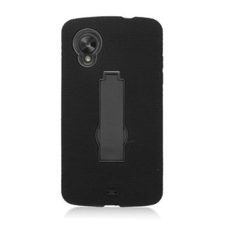 Insten Soft Silicone/ PC Rubber Case Cover with Stand For LG Google Nexus 5 D820