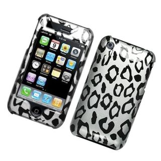 Insten White/ Black Leopard Hard Snap-on Glossy Case Cover For Apple iPhone 3G/ 3GS