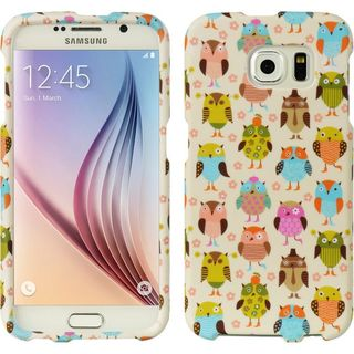 Insten White/ Colorful Owl Hard Snap-on Rubberized Matte Case Cover For Samsung Galaxy S6 SM-G920