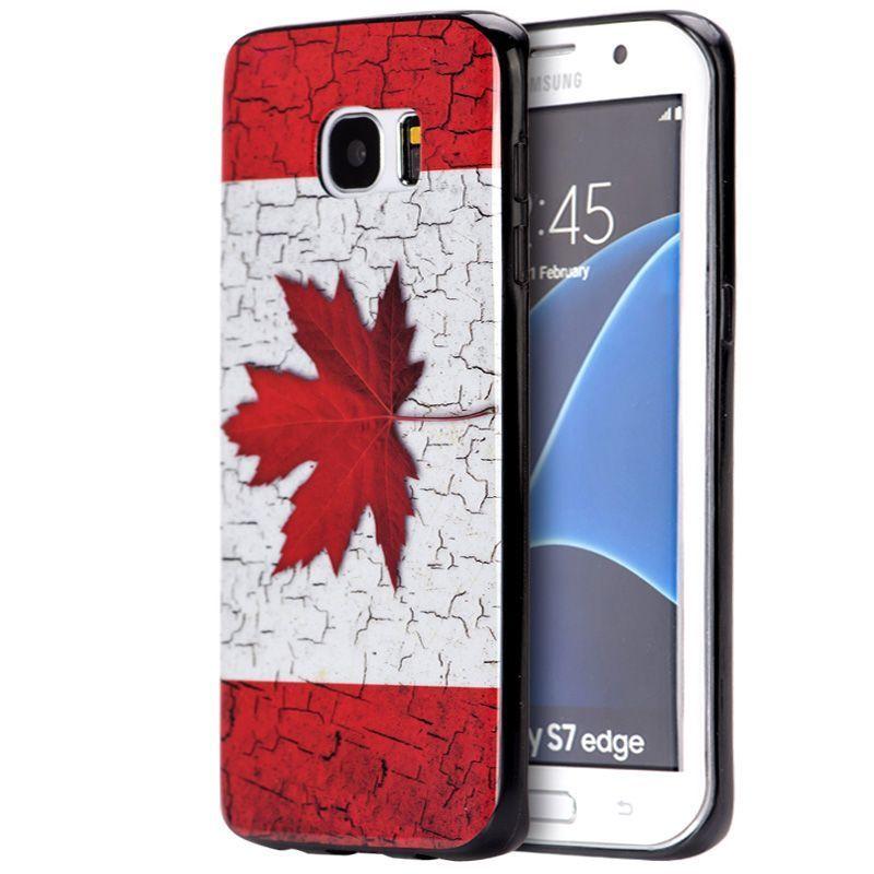 Insten White/ Red Canada TPU Rubber Candy Skin Case Cover...