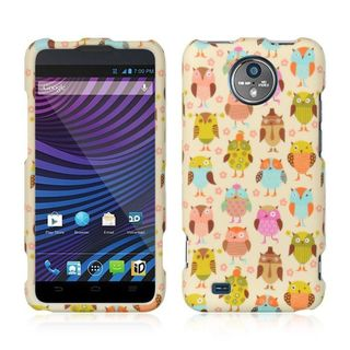 Insten Colorful Owl Hard Snap-on Rubberized Matte Case Cover For ZTE Vital N9810